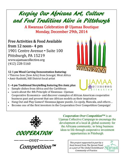 Global Kwanzaa Experience on the Day of Ujamaa, December 29th!