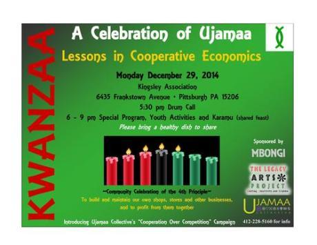 Evening Kwanzaa Celebration for the Principle of Ujamaa!